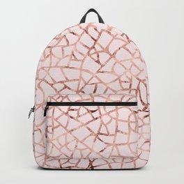 Crackle Rose Gold Foil Backpack