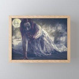 Female Zombie Framed Mini Art Print