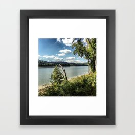 Hiking With a View Framed Art Print