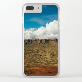 Colorful Utah Desert Plateaus Clear iPhone Case