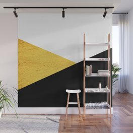 Gold & Black Geometry Wall Mural