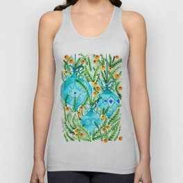 Holiday Ornaments Watercolor Unisex Tank Top