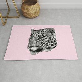 Amur leopard cub - pink - big cat Rug