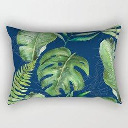 Tropical Leaves Banana Palm Tree Rectangular Pillow