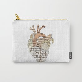 Sound Of My Heart (on white) Carry-All Pouch