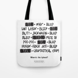 Bleepin' Words Tote Bag