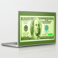 the 100 Laptop & iPad Skins featuring 100 Dollars by JT Digital Art