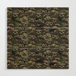 Sloth Camouflage Wood Wall Art