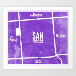 This is SF (Purple) Art Print