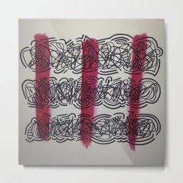Red Chaos Metal Print