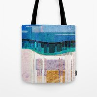 cityscape Tote Bags featuring CITYSCAPE by Catspaws