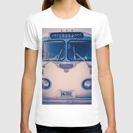 Jackson Lake Lodge Vintage Bus Print T-shirt