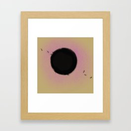the ants in the black hole Framed Art Print