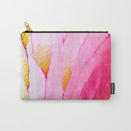 Feathered, Watercolor and Ink Carry-All Pouch