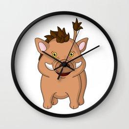 Wee Warthog Wall Clock