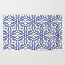 pattern floral purple Rug