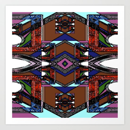 Internal Kaleidoscopic Daze- 22 Art Print