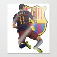 neymar Canvas Prints featuring Neymar  by siddick49