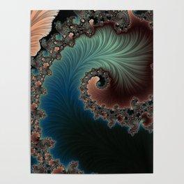 Velvet Crush - Fractal Art Poster
