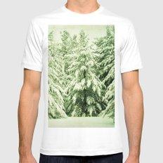 Evergreen White MEDIUM Mens Fitted Tee