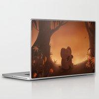 moustache Laptop & iPad Skins featuring Moustache by Ramona Treffers