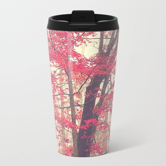 Autumn Red Metal Travel Mug