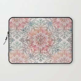 Autumn Spice Mandala in Coral, Cream and Rose Laptop Sleeve