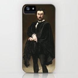 Edouard Manet, The Tragic Actor, 1866 iPhone Case