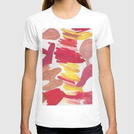 41   | 190408 Red Abstract Watercolour T-shirt