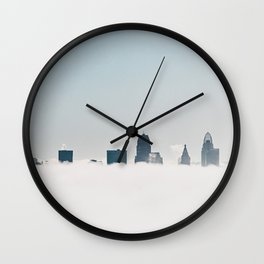 Cincinnati in the morning Wall Clock