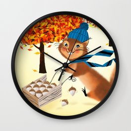 Acorn Industrialist Wall Clock