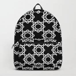 "Art Deco. "" Lola ""  black background . Backpack"