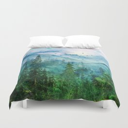 Spring Mountainscape Duvet Cover