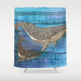 Two Whales Shower Curtain