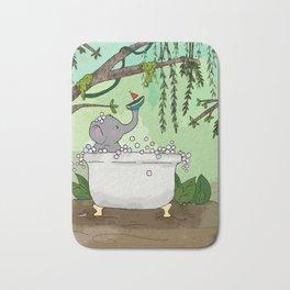 Elephant at play Bath Mat