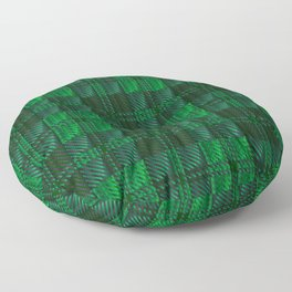 Dark Green Tartan Floor Pillow