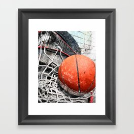 Modern Basketball Art 8 Framed Art Print