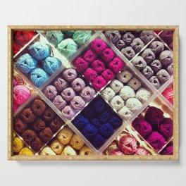 Yarn Display Serving Tray