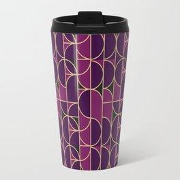 Art Deco Morning Dance In Purple Travel Mug
