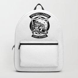 Football league illustration | American Football. Backpack