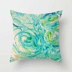 marbling twirl Throw Pillow