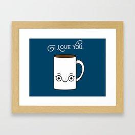 Coffee Loves You Framed Art Print