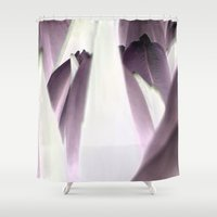 tulip Shower Curtains featuring tulip by habish