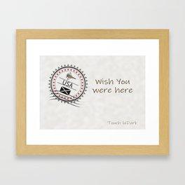 A dream. A memory. Wish You Were Here. Framed Art Print