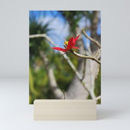 While the Mockingbird Sings- vertical Mini Art Print