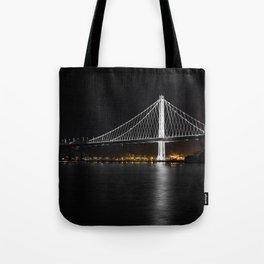 Bay Bridge at Night Tote Bag