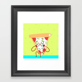 Sad pizza Framed Art Print