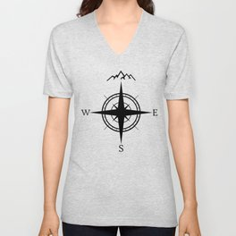 Mountain Compass Unisex V-Neck