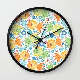 Tropical Fruit Fish! Wall Clock