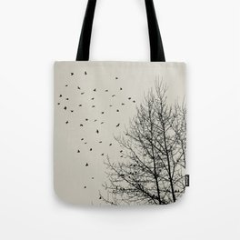 Come On Home - Graphic Birds Series, Plain - Modern Home Decor Tote Bag